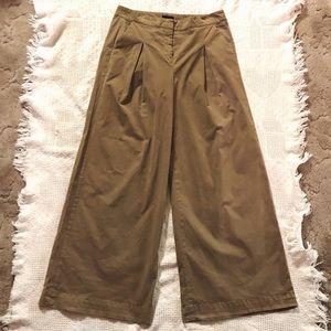 J. Crew Caramel/Khaki Wide Leg Pants Size 12